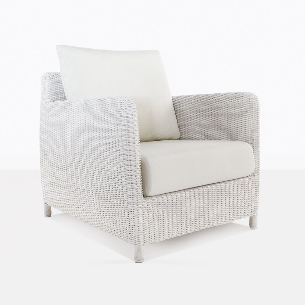 Valhalla Outdoor White Wicker Club Chair Lounge Seating