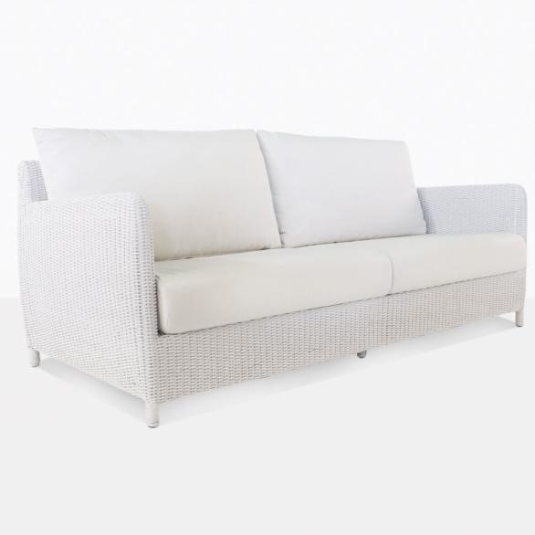 Valhalla White Outdoor Wicker Sofa