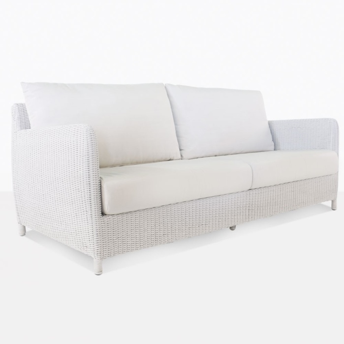 Valhalla White Outdoor Wicker Sofa