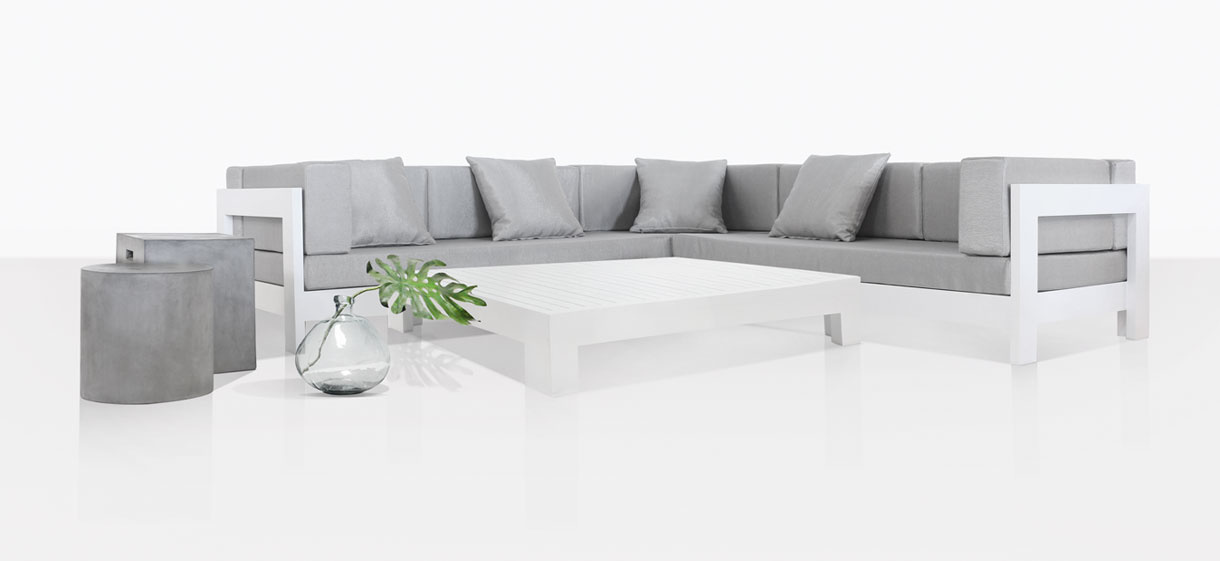 Coast Aluminum White Outdoor Sectional Sofa