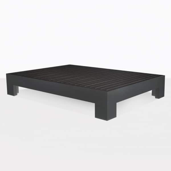 Coast Black Aluminum Outdoor Coffee Table