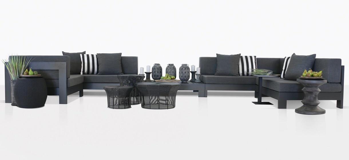 Coast Charcoal Black Aluminum Outdoor Furniture Collection | Teak Warehouse - Coast Charcoal Black Aluminum Outdoor Furniture Collection Teak
