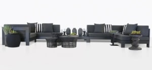 Coast Aluminum Furniture Collection Charcoal