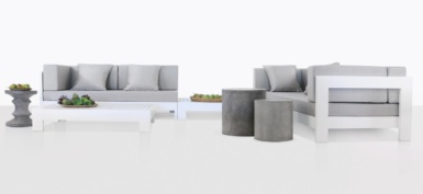 Coast Aluminum Furniture Collection in White