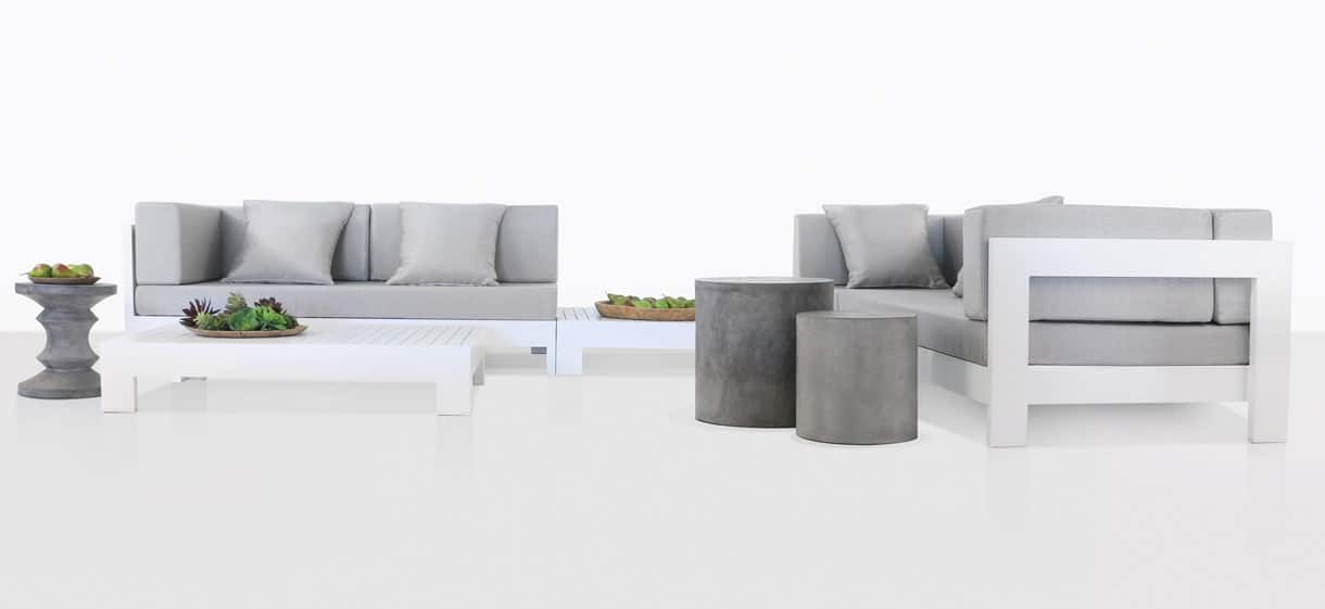 Coast elegant white Aluminum Furniture Collection