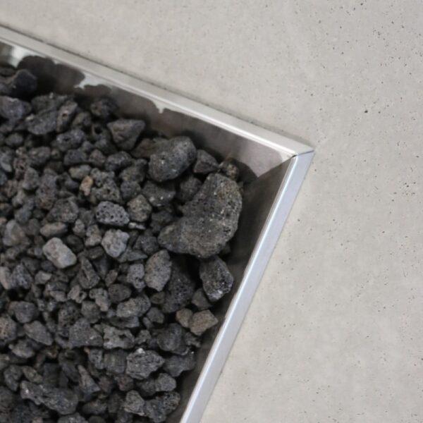 Contempo Concrete And Steel Fire Pit Closeup
