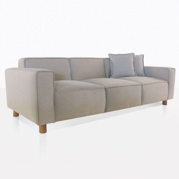 James Upholstered Sofa with Teak Legs