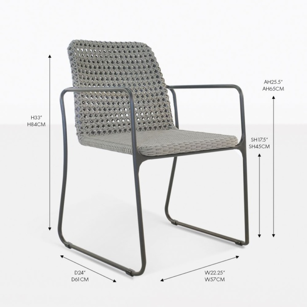 Kelli rope outdoor dining chair