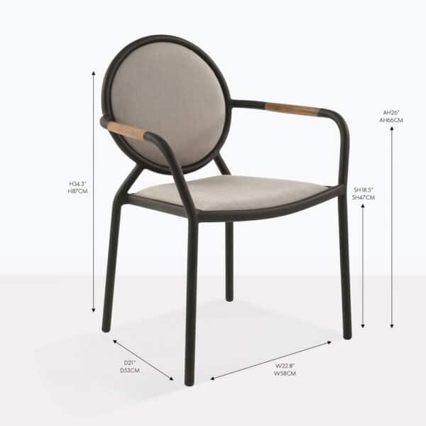 medallion arm dining chair