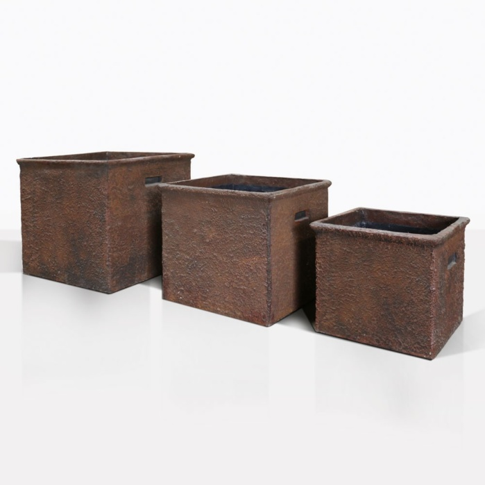 Square Concrete Planters 3 Sizes
