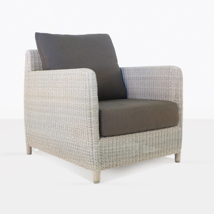 Valhalla Wicker Closeup. u201c & Valhalla Outdoor Wicker Club Chair in Chalk | Lounge Seat | Teak ...