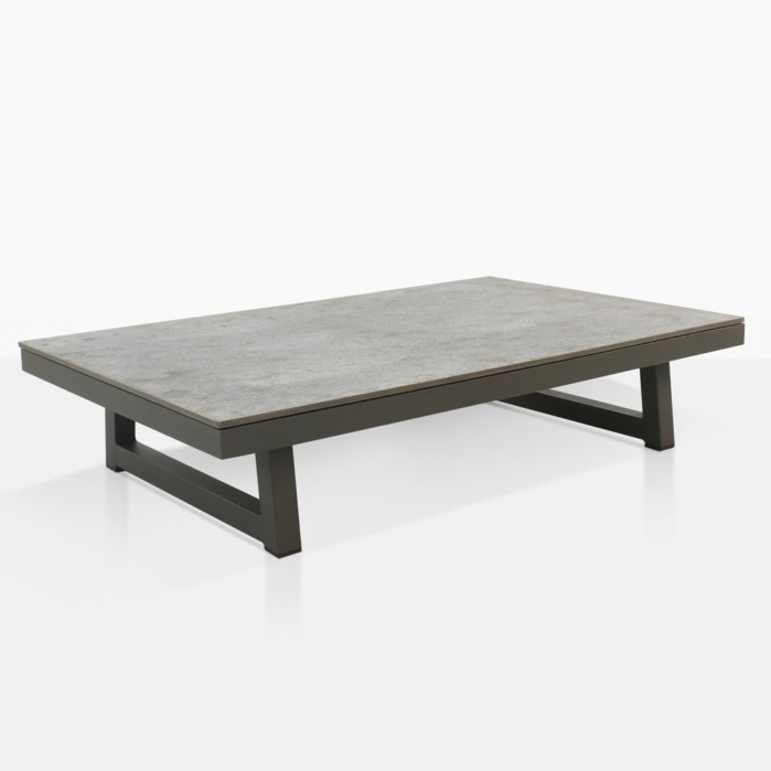 Westside Aluminum Outdoor Coffee Table Graphite Teak Warehouse - Black aluminum outdoor coffee table