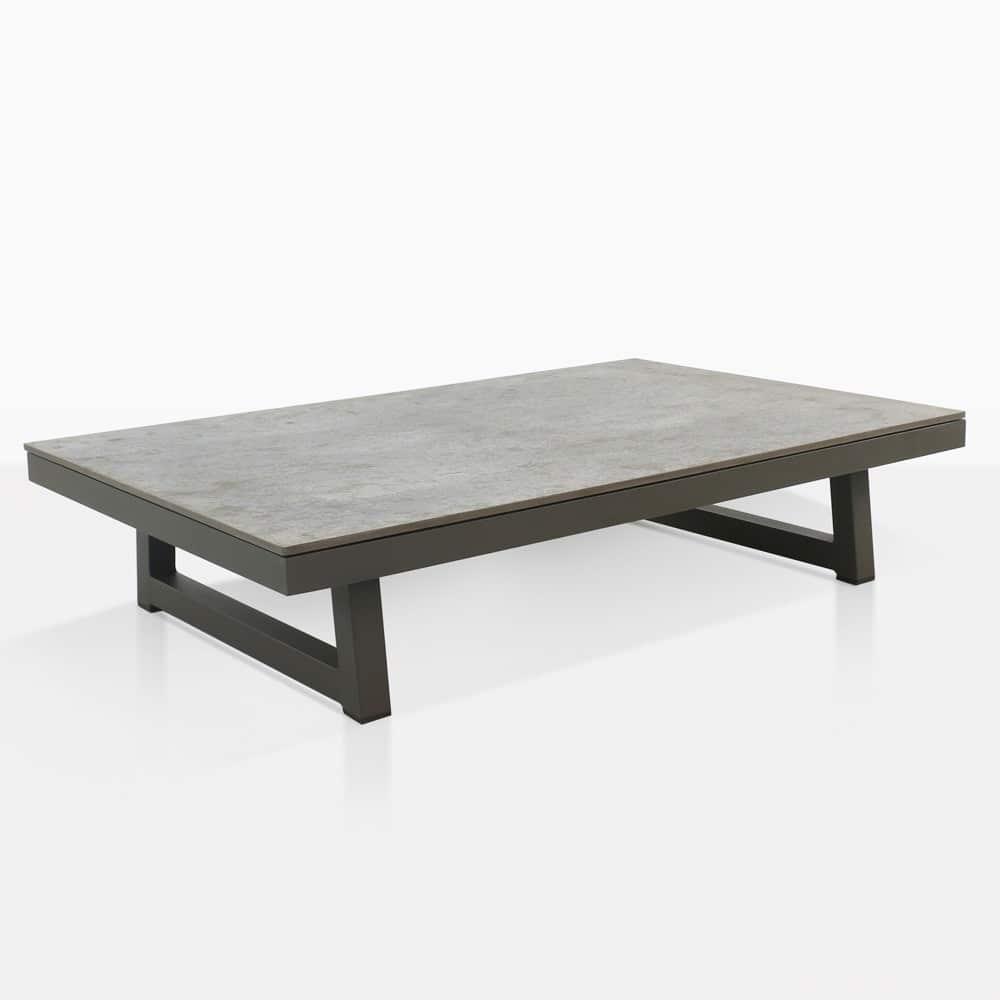 - Westside Aluminum Outdoor Coffee Table (Graphite) Teak Warehouse