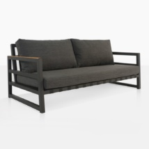 Westside Outdoor Sofa With Black Cushions