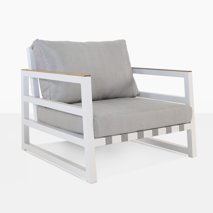 Westside Grey And White Outdoor Chair