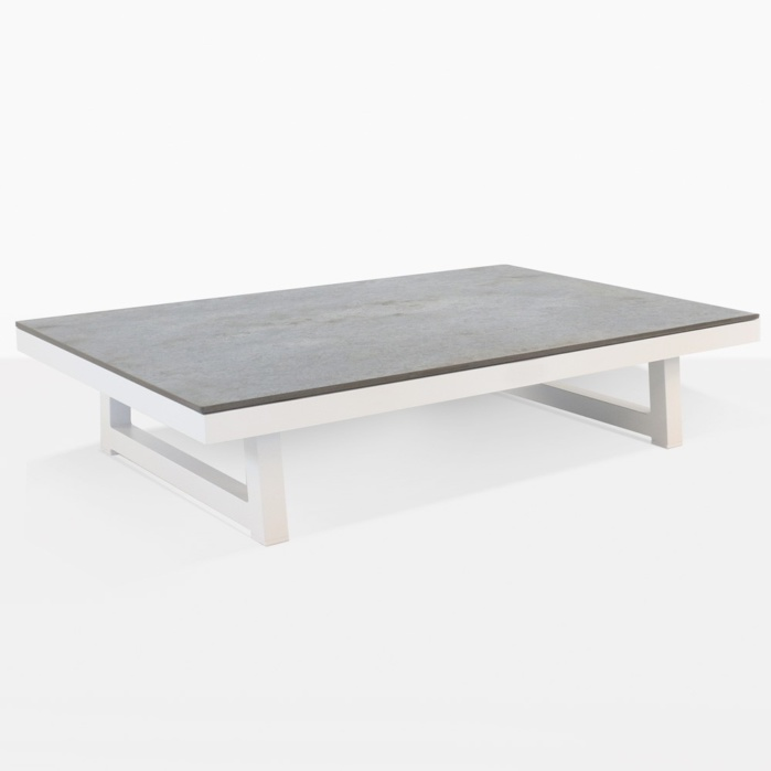 Westside Aluminum Outdoor Coffee Table White Teak Warehouse - Teak and aluminium outdoor table
