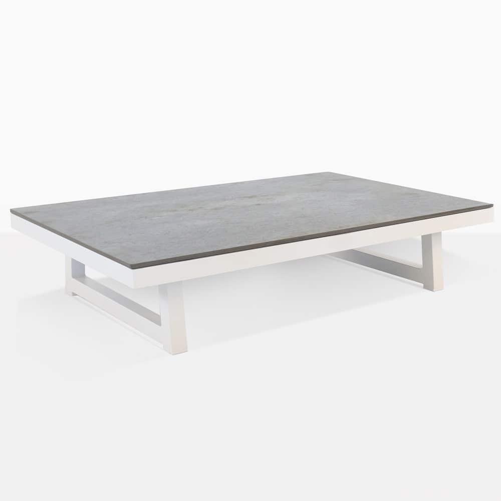 - Westside Aluminum Outdoor Coffee Table (White) Teak Warehouse
