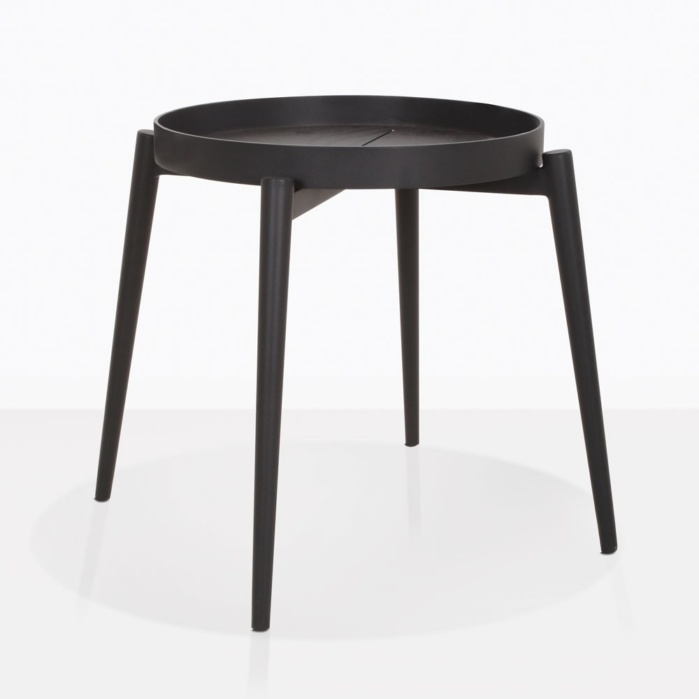 Moon Side Table With Removable Tray