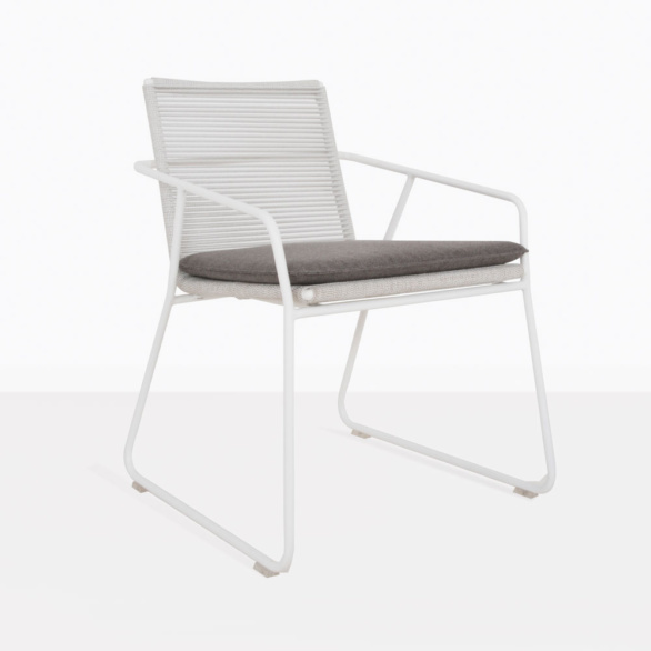 Pierre Rope And Aluminum Dining Arm Chair