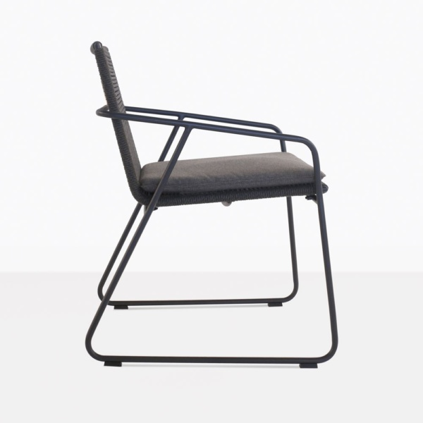 Pierre Rope And Aluminum Dining Chair Side