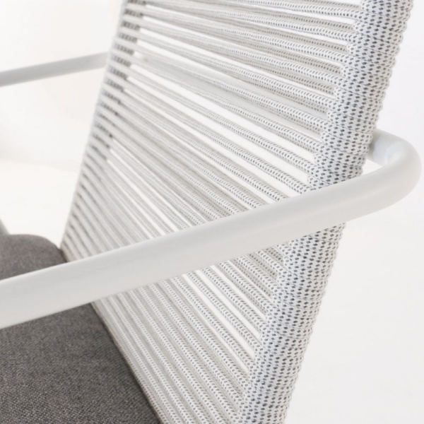 Pierre White Dining Chair Closeup