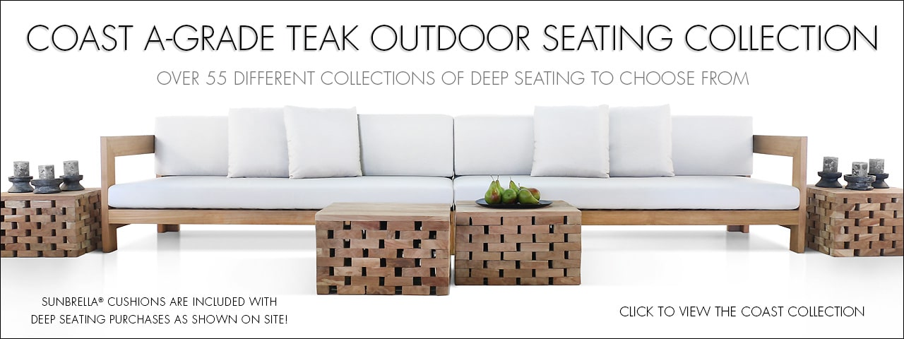Coast A-Grade Teak Outdoor Seating Collection