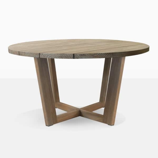 Coco Aged Teak Round Dining Table
