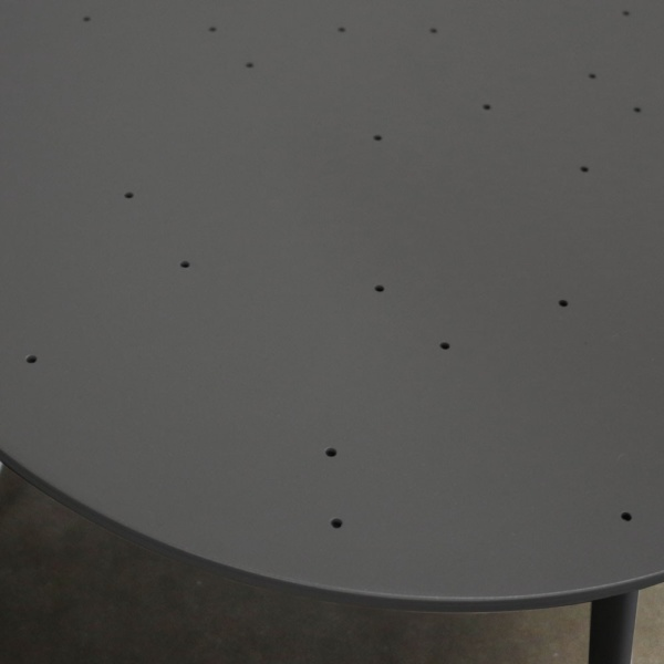 Ida Black Round Side Table Closeup