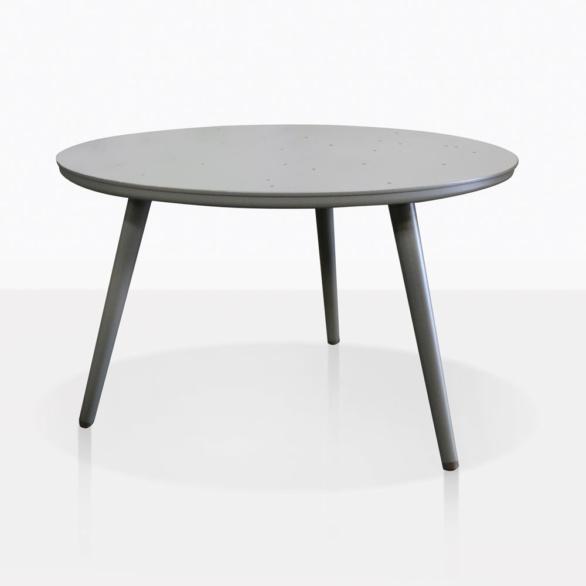 Ida Grey Aluminum Round Side Table