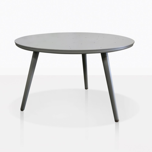 Ida Grey Aluminum Round Side Table