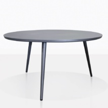 Ida Round Black Aluminum Outdoor Coffe Table