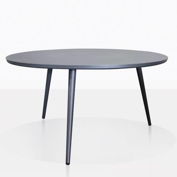 Ida Round Black Aluminum Outdoor Coffe Table