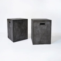 concrete letter boxes black
