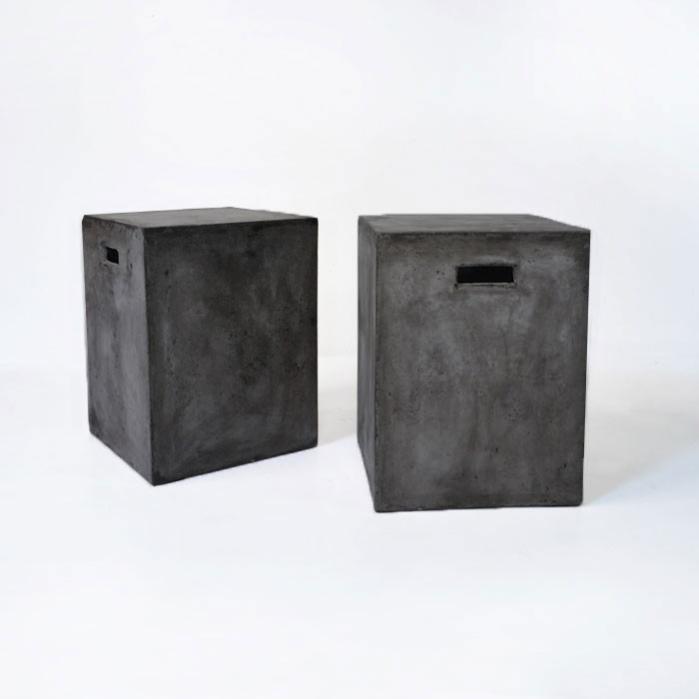 concrete letter boxes black
