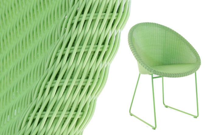 colorful green synthetic outdoor wicker