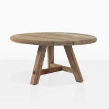 Oslo Round Reclaimed Teak Coffee Table