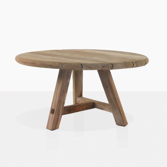 Oslo Round Reclaimed Teak Coffee Table
