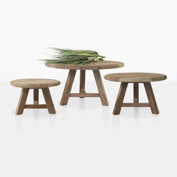 Oslo Reclaimed Teak Accent Tables 3 Sizes