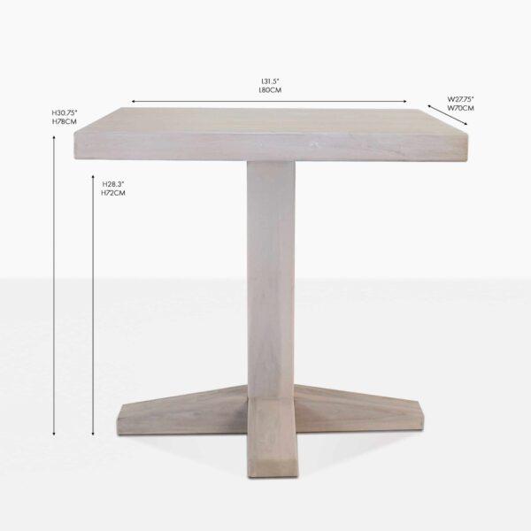 sherman bistro table reclaimed teak