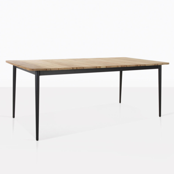 Stella Teak Outdoor Dining Table Angle