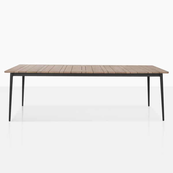 Stella Rectangle Dining Table With Teak Top