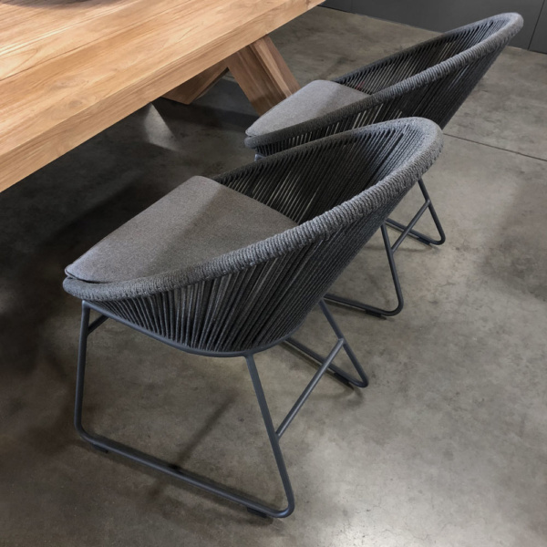 Toga Rope Outdoor Dining Chair In Showroom