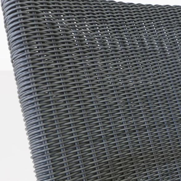 Baltic Modern Wicker Dining Chair Closeup