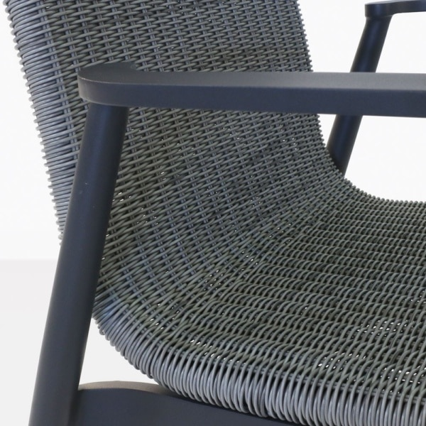Baltic Wicker And Aluminum Dining Chair Closeup