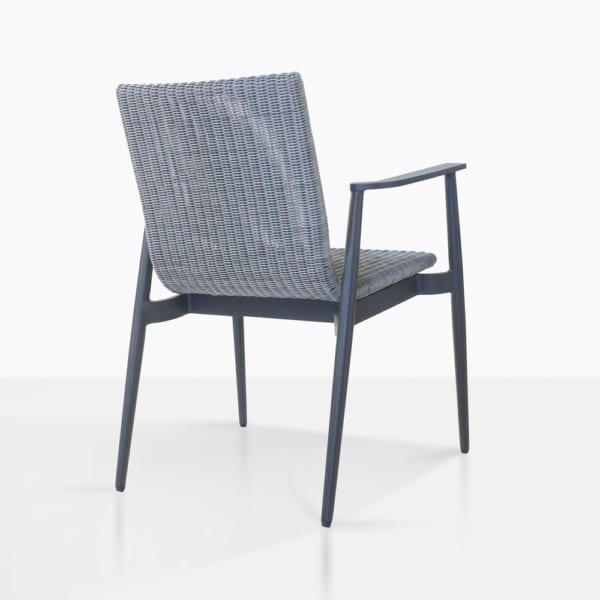 Baltic Wicker And Aluminum Dining Chair Back View