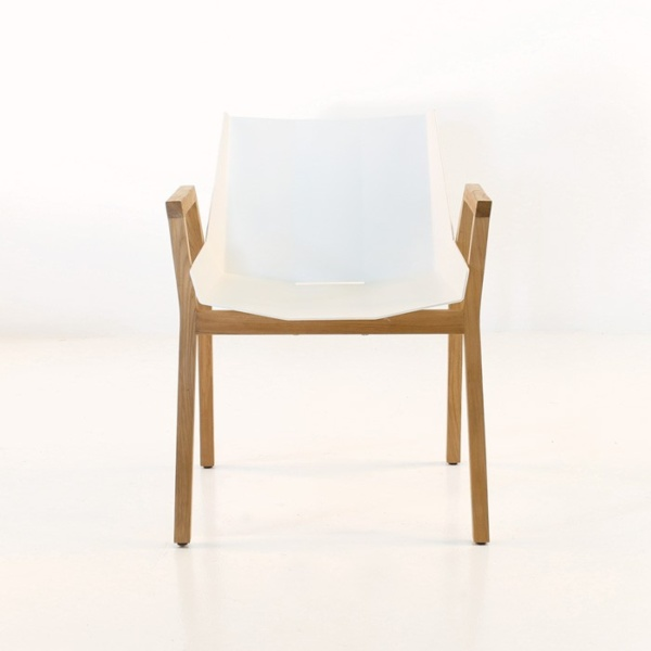 white front view elements chair