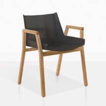 Elements Teak And Aluminum Dining Chair