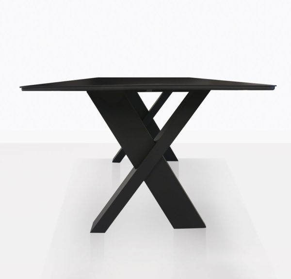 Illusion Outdoor Dining Cross Leg Table