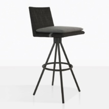 Loop Wicker Swivel Bar Stool With Cushion