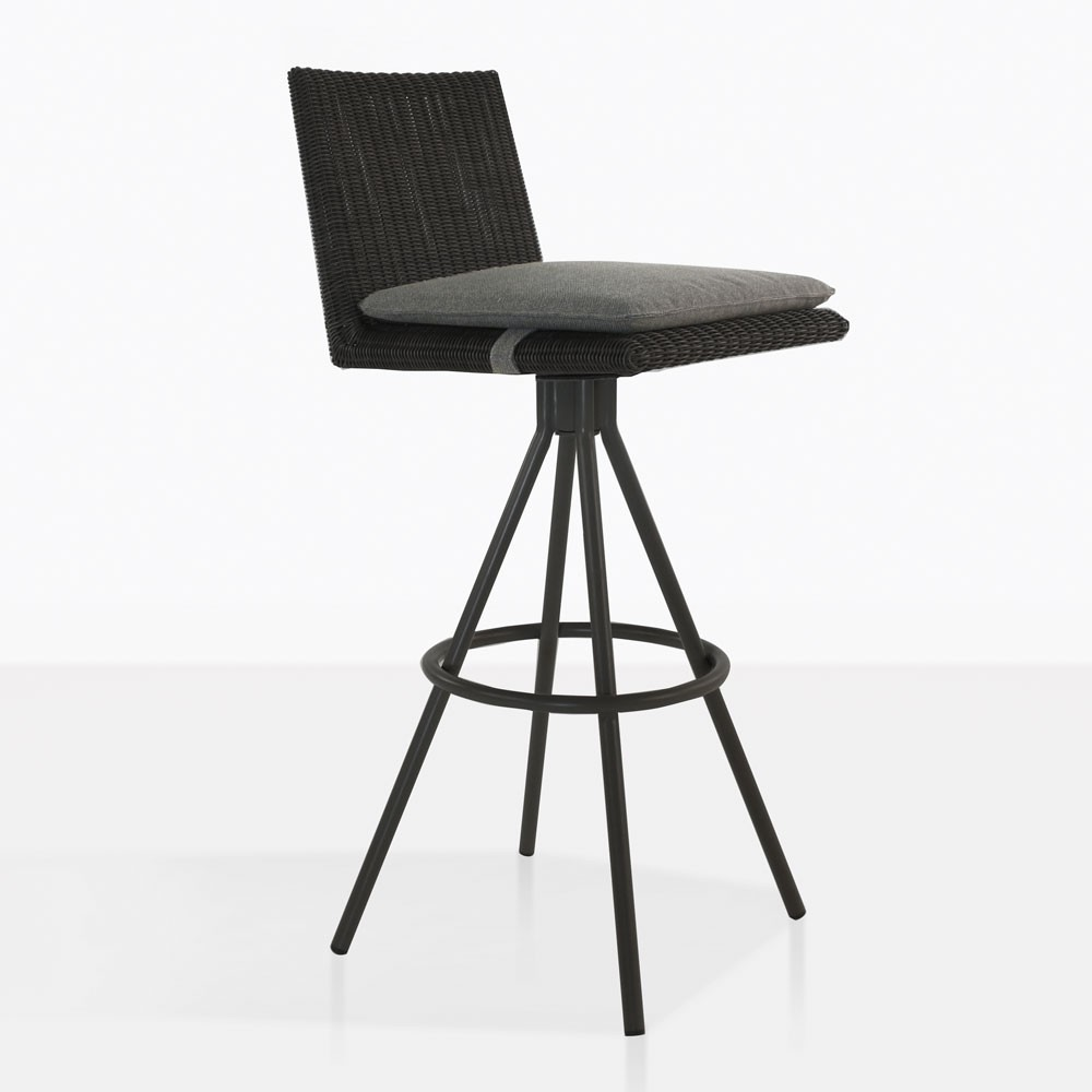 Loop Swivel Bar Stool Charcoal Black Outdoor Furniture